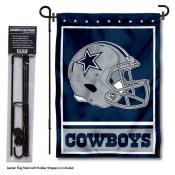Dallas Cowboys Helmet Garden Banner and Flag Stand