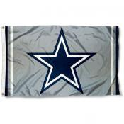 Dallas Cowboys Silver Flag