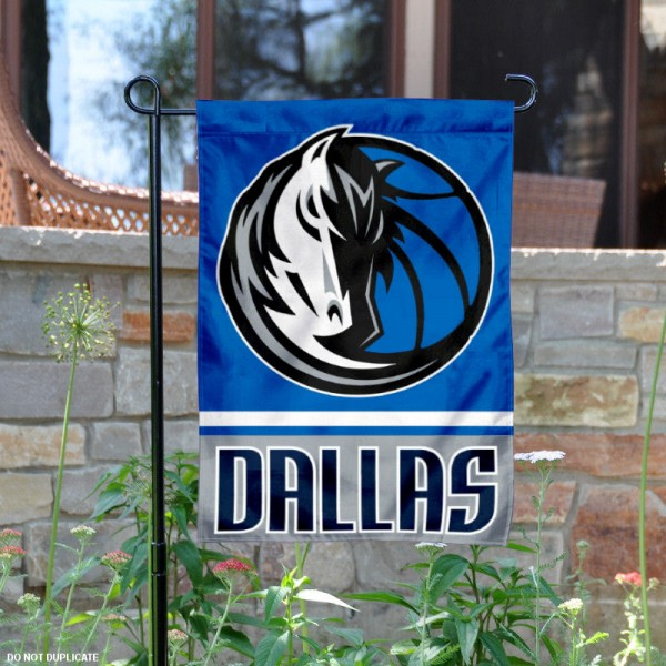 Dallas Mavericks Garden Flag is 12.5x18 inches in size, is made of 2-ply polyester, and has two sided screen printed logos and lettering. Available with Express Next Day Shipping, our Dallas Mavericks Garden Flag is NBA Genuine Merchandise and is double sided.