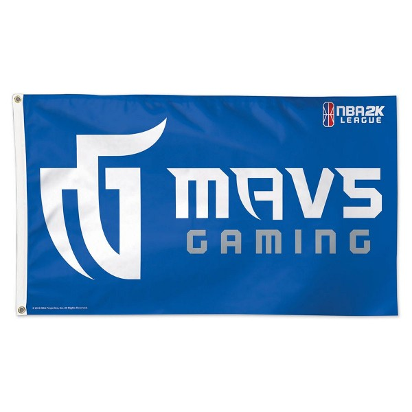 Dallas Mavericks Mavs NBA2K Gaming Flag measures 3x5 feet and offers 4 stitched flyends for durability. Dallas Mavericks Mavs NBA2K Gaming Flag is made of 1-ply polyester, has two metal grommets, and is viewable from both sides with the opposite side being a reverse image. This Dallas Mavericks Mavs NBA2K Gaming Flag is Officially Approved by the Dallas Mavericks and the NBA.