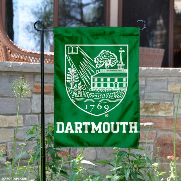 Dartmouth Big Green Crest Garden Flag is 13x18 inches in size, is made of 2-layer polyester, screen printed logos and lettering. Available with Same Day Express Shipping, Our Dartmouth Big Green Crest Garden Flag is officially licensed and approved by the College and the NCAA.