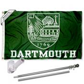 Dartmouth Big Green Flag Pole and Bracket Kit