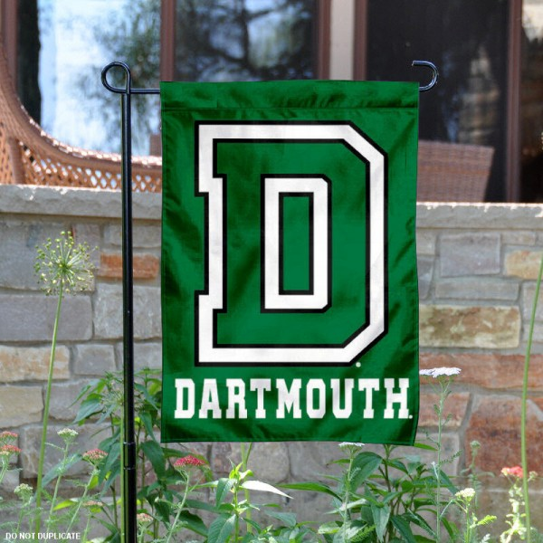 Dartmouth Big Green Garden Flag is 13x18 inches in size, is made of 2-layer polyester, screen printed Dartmouth Big Green athletic logos and lettering. Available with Same Day Express Shipping, Our Dartmouth Big Green Garden Flag is officially licensed and approved by Dartmouth Big Green and the NCAA.