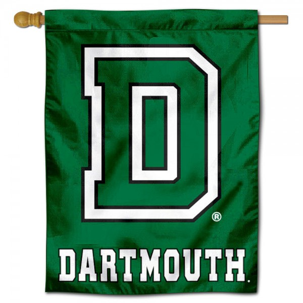 "Dartmouth College House Flag is constructed of polyester material, is a vertical house flag, measures 30""x40"", offers screen printed athletic insignias, and has a top pole sleeve to hang vertically. Our Dartmouth College House Flag is Officially Licensed by Dartmouth College and NCAA."
