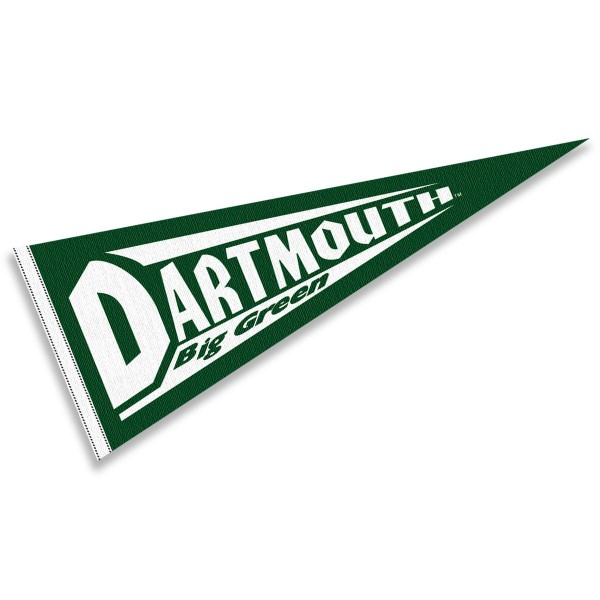 Dartmouth College Pennant measures 12x30 inches, is made of wool, and the School logos are printed with raised lettering. Our Dartmouth College Pennant is Officially Licensed and Approved by the University or Institution.