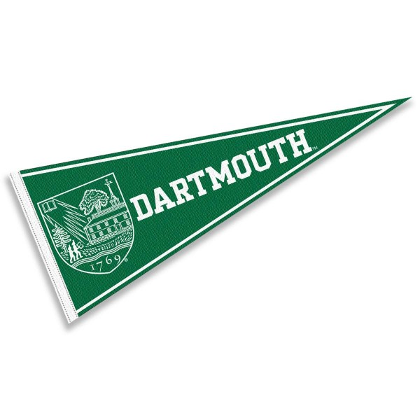 Dartmouth Felt Pennant consists of our full size pennant which measures 12x30 inches, constructed of felt, single sided imprinted, and offers a pennant stick sleeve. This Dartmouth Felt Pennant is officially licensed by the selected University and the NCAA.
