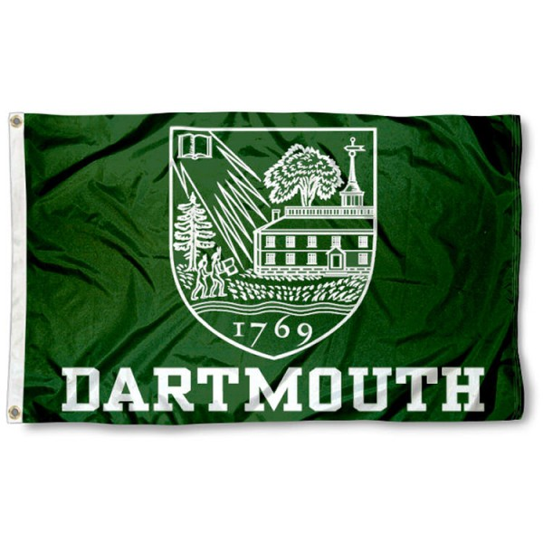 This Dartmouth Flag measures 3'x5', is made of 100% nylon, has quad-stitched sewn flyends, and has two-sided Dartmouth printed logos. Our Dartmouth Flag is officially licensed and all flags for Dartmouth are approved by the NCAA and Same Day UPS Express Shipping is available.