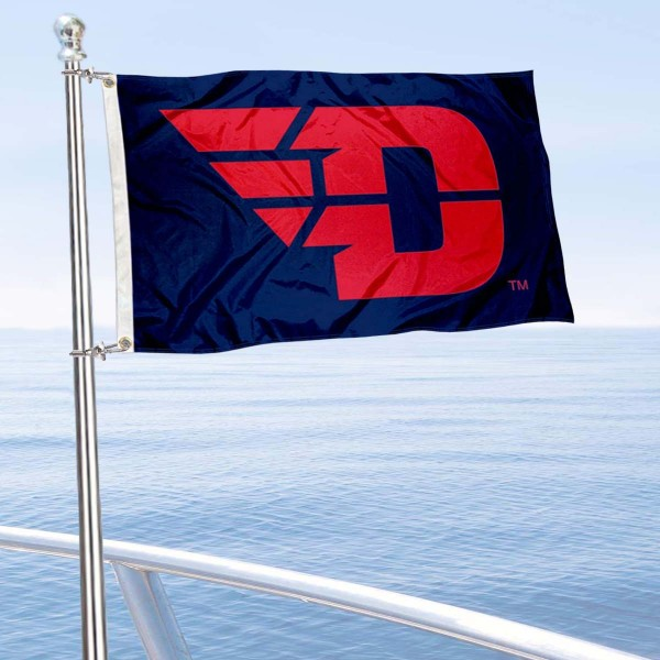Dayton Flyers Boat and Mini Flag is 12x18 inches, polyester, offers quadruple stitched flyends for durability, has two metal grommets, and is double sided. Our mini flags for Dayton Flyers are licensed by the university and NCAA and can be used as a boat flag, motorcycle flag, golf cart flag, or ATV flag.
