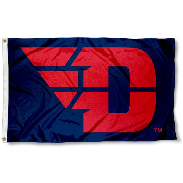 Dayton Flyers Flying D Logo Flag measures 3x5 feet, is made of 100% polyester, offers quadruple stitched flyends, has two metal grommets, and offers screen printed NCAA team logos and insignias. Our Dayton Flyers Flying D Logo Flag is officially licensed by the selected university and NCAA.