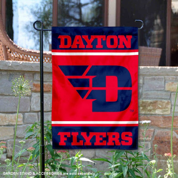 Dayton Flyers Garden Flag is 13x18 inches in size, is made of 2-layer polyester, screen printed logos and lettering. Available with Same Day Express Shipping, Our Dayton Flyers Garden Flag is officially licensed and approved by the NCAA.
