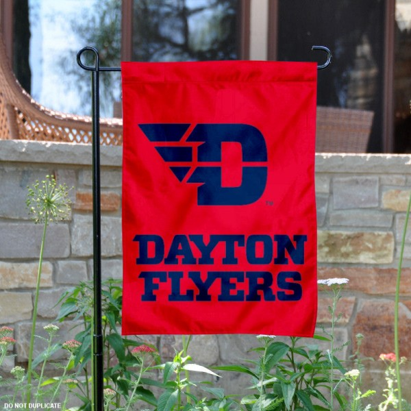 Dayton Flyers New Logo Garden Flag is 13x18 inches in size, is made of 2-layer polyester, screen printed university athletic logos and lettering. Available with Same Day Express Shipping, our Dayton Flyers New Logo Garden Flag is officially licensed and approved by the university and the NCAA.