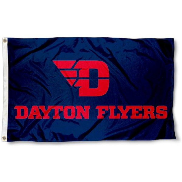 dayton flyers red letters flag and dayton flyers red letters flags