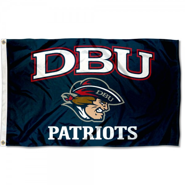DBU Patriots DBU Logo Flag measures 3x5 feet, is made of 100% polyester, offers quadruple stitched flyends, has two metal grommets, and offers screen printed NCAA team logos and insignias. Our DBU Patriots DBU Logo Flag is officially licensed by the selected university and NCAA.