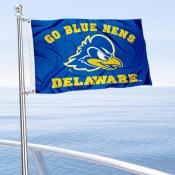 Delaware Blue Hens Boat and Mini Flag