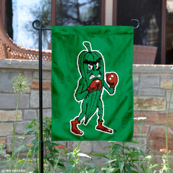 Delta State University Fighting Okra Garden Flag is 13x18 inches in size, is made of 2-layer polyester, screen printed university athletic logos and lettering, and is readable and viewable correctly on both sides. Available same day shipping, our Delta State University Fighting Okra Garden Flag is officially licensed and approved by the university and the NCAA.