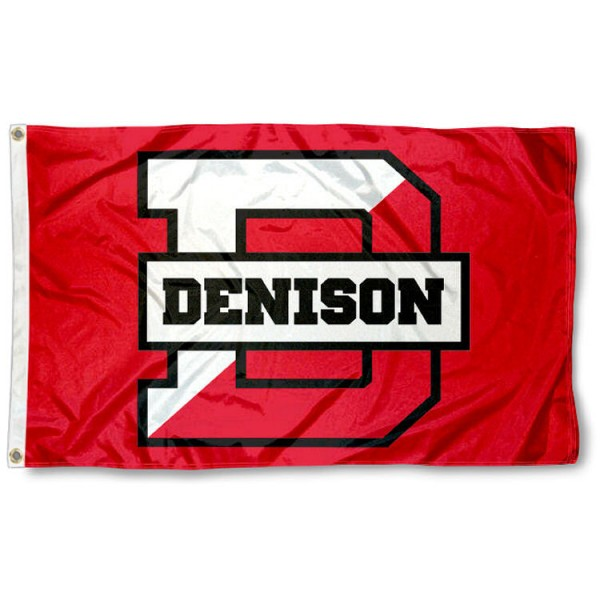 Denison Big Red Flag is made of 100% nylon, offers quad stitched flyends, measures 3x5 feet, has two metal grommets, and is viewable from both side with the opposite side being a reverse image. Our Denison Big Red Flag is officially licensed by the selected college and NCAA