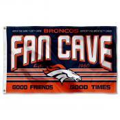 Denver Broncos Fan Cave Flag Large Banner