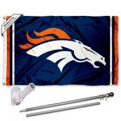 Denver Broncos Flag Pole and Bracket Kit