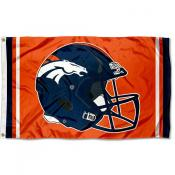 Denver Broncos New Helmet Flag