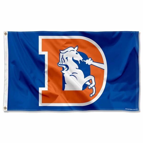 Denver Broncos Throwback Flag And Denver Broncos Throwback