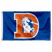 Denver Broncos Throwback Flag