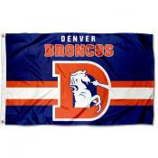 Denver Broncos Throwback Retro Vintage Logo Flag