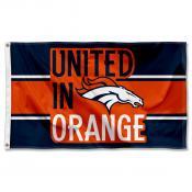 Denver Broncos United In Orange Flag