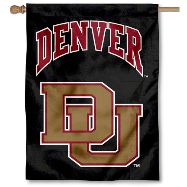 Denver DU Pioneers Banner Flag is a vertical house flag which measures 30x40 inches, is made of 2 ply 100% polyester, offers dye sublimated NCAA team insignias, and has a top pole sleeve to hang vertically. Our Denver DU Pioneers Banner Flag is officially licensed by the selected university and the NCAA.