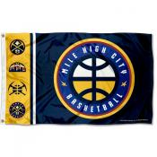 Denver Nuggets Mile High City Logo 3x5 Flag