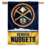 Denver Nuggets New Pickaxe Logo Double Sided House Flag