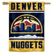 Denver Nuggets New Skyline Logo Double Sided House Flag
