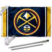 Denver Nuggets Pickaxe Flag Pole and Bracket Kit