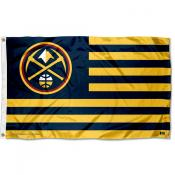 Denver Nuggets Stripes Nation Flag
