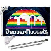 Denver Nuggets Throwback Skyline Flag Pole and Bracket Kit