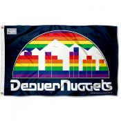 Denver Nuggets Throwback Skyline Logo 3x5 Flag
