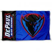 DePaul Blue Demon Logo Flag