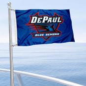 DePaul Blue Demons Boat and Mini Flag