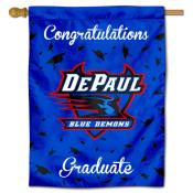 DePaul Blue Demons Congratulations Graduate Flag