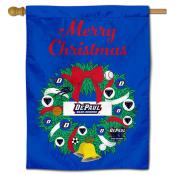 DePaul Blue Demons Happy Holidays Banner Flag