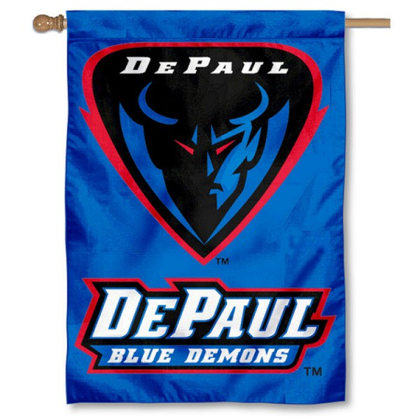 DePaul Blue Demons House Flag is a vertical house flag which measures 28x40 inches, is made of 2 ply 100% nylon, offers dye sublimated NCAA team insignias, and has a top pole sleeve to hang vertically. Our DePaul Blue Demons House Flag is officially licensed by the selected university and the NCAA