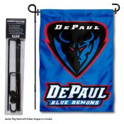 DePaul University Garden Flag and Stand