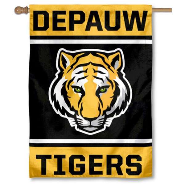 DePauw Tigers Double Sided Banner is a vertical house flag which measures 28x40 inches, is made of 2 ply 100% nylon, offers screen printed NCAA team insignias, and has a top pole sleeve to hang vertically. Our DePauw Tigers Double Sided Banner is officially licensed by the selected university and the NCAA.
