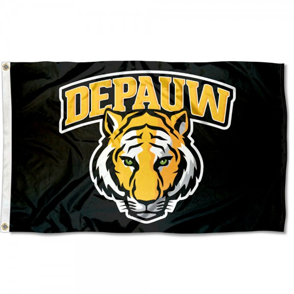 DePauw Tigers New Logo Flag is made of 100% nylon, offers quad stitched flyends, measures 3x5 feet, has two metal grommets, and is viewable from both side with the opposite side being a reverse image. Our DePauw Tigers New Logo Flag is officially licensed by the selected college and NCAA