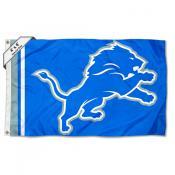 Detroit Lions 4x6 White Horns Flag