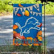 Detroit Lions Fall Football Leaves Decorative Double Sided Garden Flag