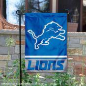 Detroit Lions Logo Garden Flag
