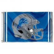 Detroit Lions New Football Helmet Flag