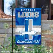 Detroit Lions Throwback Logo Double Sided Garden Flag Flag