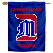 Detroit Mercy Titans Double Sided House Flag