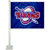 Detroit Mercy Titans Logo Car Flag